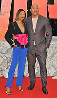 Naomie Harris and Dwayne Johnson at the &quot;Rampage&quot; European film premiere, Cineworld Empire, Leicester Square, London, England, UK, on Wednesday 11 April 2018.<br /> CAP/CAN<br /> &copy;CAN/Capital Pictures