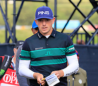 Matt Wallace (ENG) walks off the 12th green during Thursday's Round 1 of the 148th Open Championship, Royal Portrush Golf Club, Portrush, County Antrim, Northern Ireland. 18/07/2019.<br /> Picture Eoin Clarke / Golffile.ie<br /> <br /> All photo usage must carry mandatory copyright credit (© Golffile | Eoin Clarke)