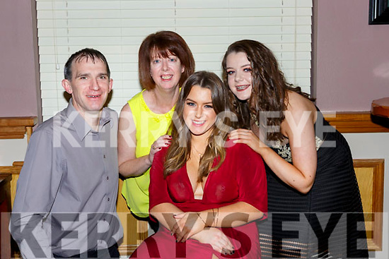 Katie O'Mahony Castleisland celebrated her 21st with her parents Denis and Aida and sister Sarah in O'Riada's bar Ballymac on Saturday night