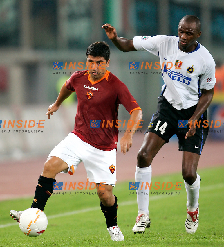 Roma 20/9/2006 <br /> Campionato Italiano Serie A Roma Inter 0-1<br /> Photo Andrea Staccioli INSIDE / www.insidefoto.com <br /> AS Roma David PIZARRO and FC Inter Patrick VIEIRA
