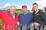 GO RACING!: Paul Harrison, Brian O'Sullivan and Sean McCoy, Abbeyfeale pictured at the Dingle Races on Sunday..