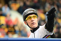Picture by SWpix.com - 04/03/2018 - Cycling - 2018 UCI Track Cycling World Championships, Day 4 - Omnisport, Apeldoorn, Netherlands - Women's Keirin First Round - Derny pilot