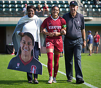 STANFORD, CA - October 21, 2018: Alana Cook at Laird Q. Cagan Stadium. No. 1 Stanford Cardinal defeated No. 15 Colorado Buffaloes 7-0 on Senior Day.