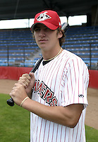 July 3, 2004:  First baseman J.T. Restko of the Jamestown Jammers, Single-A NY-Penn League affiliate of the Florida Marlins, during a game at Russell Diethrick Park in Jamestown, NY.  Photo by:  Mike Janes/Four Seam Images