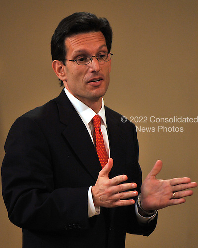 Washington, DC - February 23, 2009 -- United States House Republican Whip  Eric Cantor (Republican of Virginia) makes a statement as United States President Barack Obama delivers remarks and takes some questions from participants to close the Fiscal Responsibility Summit at the White House in Washington, D.C. on Monday, February 23, 2009..Credit: Ron Sachs - Pool via CNP