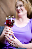 Wine tasting in the Duplin Winery bistro courtyard.