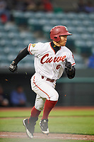 Altoona Curve first baseman Connor Joe (6) runs to first base during a game against the New Hampshire Fisher Cats on May 11, 2017 at Peoples Natural Gas Field in Altoona, Pennsylvania.  Altoona defeated New Hampshire 4-3.  (Mike Janes/Four Seam Images)