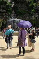 Fontana dell'Ovato.The Oval Fountain..Villa d'Este di Tivoli, patrimonio mondiale dell' UNESCO..Villa d'Este is included in the UNESCO world heritage list.