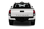 Straight rear view of 2020 Toyota Tacoma TRD-Off-Road 4 Door Pick-up Rear View  stock images