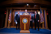 United States Senator Chuck Grassley (Republican of Iowa) delivers remarks on USMCA alongside United States Senator John Barrasso (Republican of Wyoming), United States Senator Roger Wicker (Republican of Mississippi), and United States Senator Jim Risch (Republican of Idaho) during a press conference on Capitol Hill in Washington D.C., U.S., on Thursday, January 9, 2020.  <br /> <br /> Credit: Stefani Reynolds / CNP/AdMedia