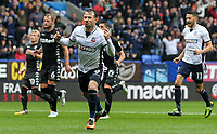 Bolton Wanderers' Adam Le Fondre celebrates scoring from the penalty spot<br /> <br /> Photographer Andrew Kearns/CameraSport<br /> <br /> The EFL Sky Bet Championship - Bolton Wanderers v Leeds United - Sunday 6th August 2017 - Macron Stadium - Bolton<br /> <br /> World Copyright &copy; 2017 CameraSport. All rights reserved. 43 Linden Ave. Countesthorpe. Leicester. England. LE8 5PG - Tel: +44 (0) 116 277 4147 - admin@camerasport.com - www.camerasport.com