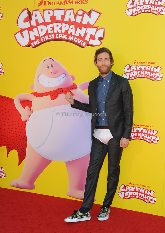 Thomas Middleditch arriving at the Los Angeles premiere of Captain Underpants, held at the Regency Village Theater in Westwood California on May 21, 2017