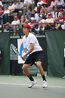 20 May 2006: Stanford Cardinal Matt Bruch in the 2006 NCAA Men's Tennis Championships at the Taube Family Tennis Stadium in Stanford, CA. Stanford defeated Duke 4-0 to advance to the quarterfinals.