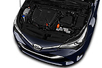 Car stock 2017 Toyota Avensis TS Premium 5 Door Wagon engine high angle detail view