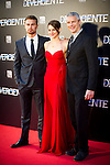 Cines Callao. Madrid. Spain. 03.04.2014. Premiere from the film Divergente. Theo James. Shailene Woodley and Neil Burger.