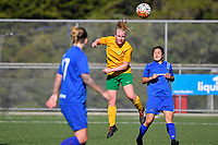Women's Premier Football - Powerex Petone Premier v Victoria University at Petone Memorial Turf, Lower Hutt, New Zealand on Sunday 15 April 2018.<br /> Photo by Masanori Udagawa. <br /> www.photowellington.photoshelter.com