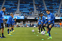 San Jose, CA - Saturday September 16, 2017: San Jose Earthquakes  prior to a Major League Soccer (MLS) match between the San Jose Earthquakes and the Houston Dynamo at Avaya Stadium.