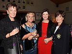 Mary McDonnell, Pauline Butterly, Catriona McDonnell and Lady Captain Irene Kirwan at the Captain's dinner at Seapoint Golf Club. Photo:Colin Bell/pressphotos.ie