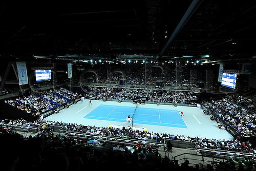 21.02.2016. MARSEILLE, France. ATP Open 13 mens final. Nick Kyrgios versus Martin Cilic.  Marin Cilic (CRO) loses to Kyrgios in 2 sets 6-2 and 7-6 (3)