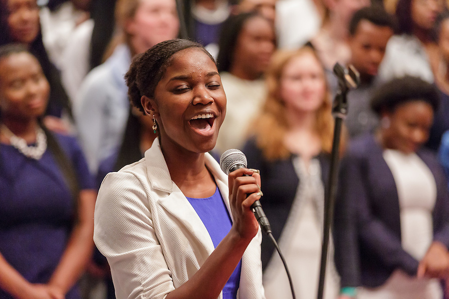 12.5.15 Voices of Faith Fall Concert in the Keenan-Stanford Chapel. Photo by Peter Ringenberg / University of Notre Dame