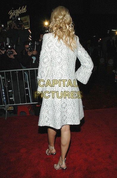 "UMA THURMAN.Premiere of her new film ""Prime"" at the famed Ziegfeld Theater in Manhattan, New York, New York..October 20th, 2005 .Photo Credit: Patti Ouderkirk/AdMedia/Capital Pictures.Ref: PO/ADM.full length silver grey gray metallic jacket coat pattern print back behind rear.www.capitalpictures.com.sales@capitalpictures.com.© Capital Pictures."