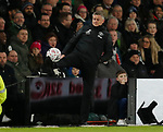 Ole Gunnar Solskjaer manager of Manchester United controls the ball as it leaves the pitch during the FA Cup match at the Pride Park Stadium, Derby. Picture date: 5th March 2020. Picture credit should read: Darren Staples/Sportimage