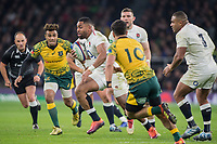 Twickenham, United Kingdom, Saturday, 24th  November 2018, RFU, Rugby, Stadium, England, Right, Joe COKANASIGA, running w th the ball during  the Quilter Autumn International, England vs Australia, © Peter Spurrier