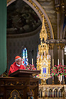 January 21, 2019; Cardinal Joseph Zen, former bishop of Hong Kong, gives the homily at the daily afternoon Mass the Basilica of the Sacred Heart. (Photo by Matt Cashore/University of Notre Dame)