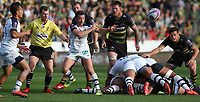 Clermont Auvergne's Greig Laidlaw<br /> <br /> Photographer Stephen White/CameraSport<br /> <br /> European Rugby Challenge Cup - Northampton Saints v Clermont Auvergne - Saturday 13th October 2018 - Franklin's Gardens - Northampton<br /> <br /> World Copyright © 2018 CameraSport. All rights reserved. 43 Linden Ave. Countesthorpe. Leicester. England. LE8 5PG - Tel: +44 (0) 116 277 4147 - admin@camerasport.com - www.camerasport.com