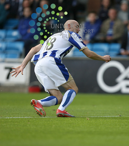 Killies Conor Sammon(18)  scores the opening goal during the Kilmarnock v St Mirren Clydesdale Bank Scottish Premier League at Rugby Park 29/08/09....Picture by Ricky Rae/ Universal News & Sport (Scotland).