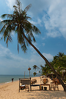 Empty beach cafe on Long Beach, Phu Quoc during COVID pandemia