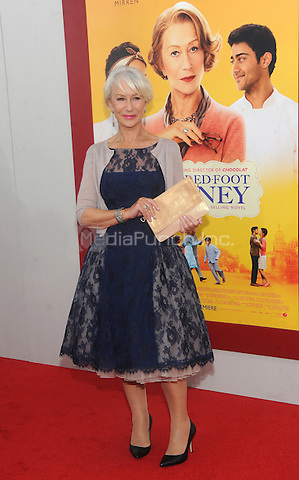New York, NY- August 4: Helen Mirren attends the world premiere of Dreamworks pictures' 'The Hundred-Foot Journey' on August 4, 2014 at the Ziegfeld Theater in New York City. Credit: John Palmer/MediaPunch
