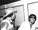 Bootsy Collins 1978 with Stevie Wonder.© Chris Walter.