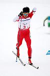 Yoshihiro Nitta (JPN), <br /> MARCH 18, 2018 - Cross-Country Skiing : <br /> 4 x 2.5 km Mix relay <br /> at Alpensia Biathlon Centre   <br /> during the PyeongChang 2018 Paralympics Winter Games in Pyeongchang, South Korea. <br /> (Photo by Sho Tamura/AFLO SPORT)