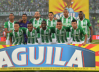 MEDELLÍN-COLOMBIA, 27-04-2019: Jugadores de Atlético Nacional, posan para una foto, antes de partido de la fecha 16 entre Atlético Nacional y América de Cali, por la Liga Águila I 2019, jugado en el estadio Atanasio Girardot de la ciudad de Medellín. / Players of Atletico Nacional, pose for a photo, prior a match of the 16th date between Atletico Nacional and America de Cali, for the Aguila Leguaje I 2019 played at the Atanasio Girardot Stadium in Medellin city. / Photo: VizzorImage / León Monsalve / Cont.