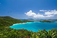 Elevated view of Hawksnest Bay<br /> Virgin Islands National Park<br /> St. John<br /> U.S. Virgin Islands