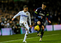 Leeds United's Pablo Hernandez controls the ball under pressure from Derby County's David Nugent<br /> <br /> Photographer Alex Dodd/CameraSport<br /> <br /> The EFL Sky Bet Championship -  Leeds United v Derby County - Friday 11th January 2019 - Elland Road - Leeds<br /> <br /> World Copyright &copy; 2019 CameraSport. All rights reserved. 43 Linden Ave. Countesthorpe. Leicester. England. LE8 5PG - Tel: +44 (0) 116 277 4147 - admin@camerasport.com - www.camerasport.com