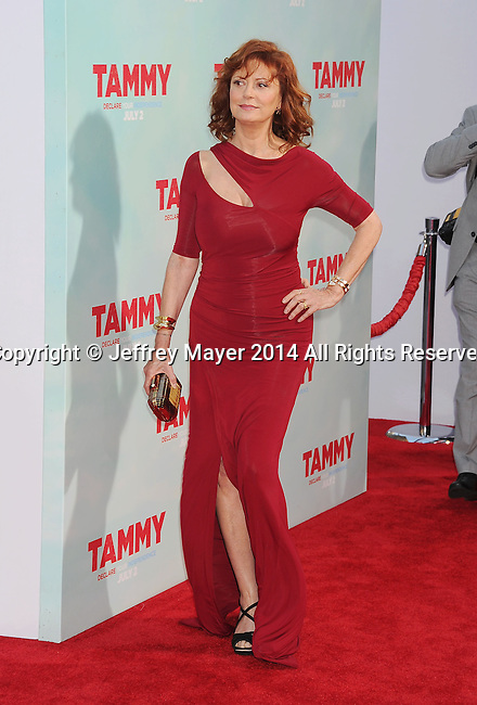 HOLLYWOOD, CA- JUNE 30: Actress Susan Sarandon arrives at the 'Tammy' - Los Angeles Premiere at TCL Chinese Theatre on June 30, 2014 in Hollywood, California.