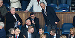 Charles Green takes his seat in the directors box