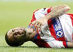 Granada's Dani Benitez injured during La Liga Match. January 07, 2012. (ALTERPHOTOS/Alvaro Hernandez)