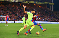Emre Can of Liverpool and Wilfried Zaha of Crystal Palace during the EPL - Premier League match between Crystal Palace and Liverpool at Selhurst Park, London, England on 29 October 2016. Photo by Steve McCarthy.