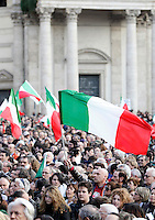 Manifestazione in difesa della Costituzione italiana e della scuola pubblica, a Roma, 12 marzo 2011..Demonstration in defence of the Italian Constitution and the public school, in Rome 12 march 2011..UPDATE IMAGES PRESS/Riccardo De Luca
