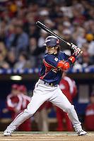 Tsuyoshi Nishioka of Japan during World Baseball Championship at Angel Stadium in Anaheim,California on March 20, 2006. Photo by Larry Goren/Four Seam Images