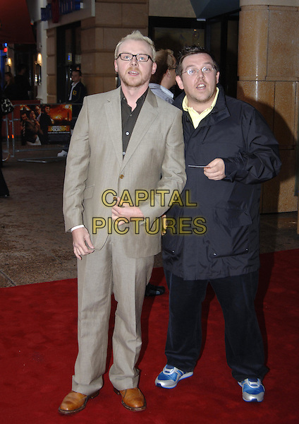 "SIMON PEGG & NICK FROST.""The League Of Gentlemen's Apocalypse"" UK Film Premiere, Vue Cinema, Leicester Square, .London, June 1st 2005..full length glasses beard.Ref: PL.www.capitalpictures.com.sales@capitalpictures.com.©Capital Pictures"