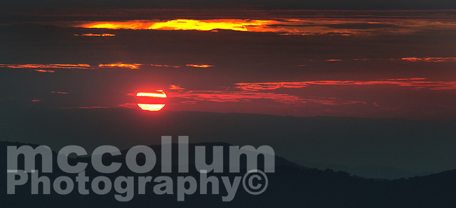Michael McCollum<br /> 8/1/17<br /> Sunset on the Blue Ridge Mountains looking South from Clingmans Dome (6,643 feet) in the Great Smoky Mountains National Park in North Carolina