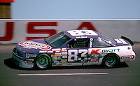 Lake Speed races to victory in the Transouth 500 at Darlington Raceway in Darlington, SC on March 20, 1988. (Photo by Brian Cleary/www.bcpix.com)