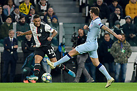 26th November 2019; Allianz Stadium, Turin, Italy; UEFA Champions League Football, Juventus versus Atletico Madrid; Danilo of Juventus crosses the ball in the box  - Editorial Use