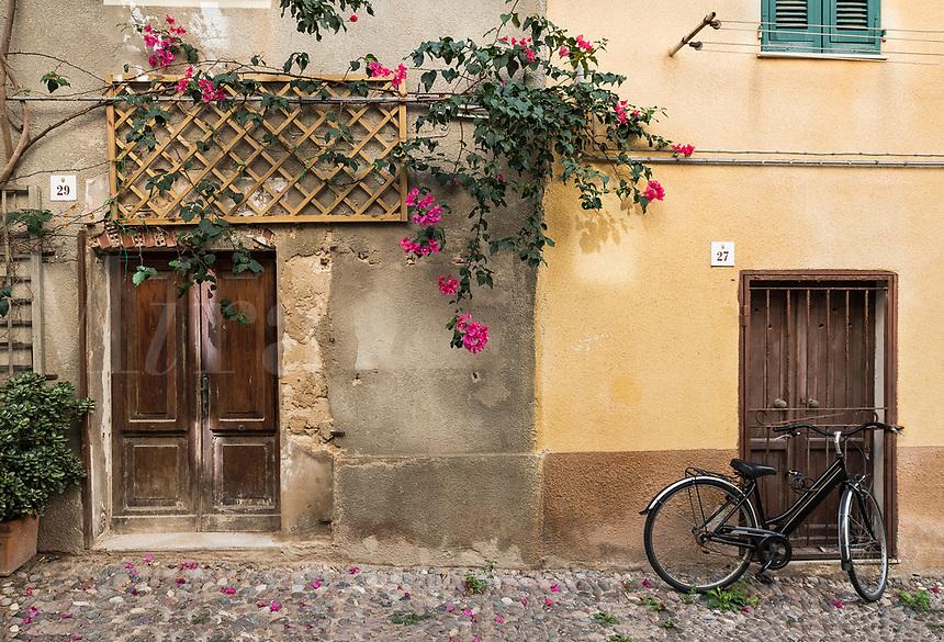 Charming house detail, Alghero, Sardinia, Italy.