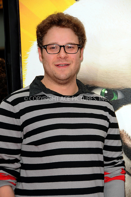WWW.ACEPIXS.COM . . . . .  ....May 22 2011, LA....Seth Rogen arriving at the premiere of  'Kung Fu Panda 2' at Mann's Chinese Theatre on May 22, 2011 in Hollywood, California....Please byline: PETER WEST - ACE PICTURES.... *** ***..Ace Pictures, Inc:  ..Philip Vaughan (212) 243-8787 or (646) 679 0430..e-mail: info@acepixs.com..web: http://www.acepixs.com