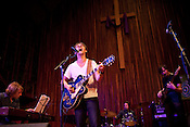 Sondre Lerche plays with Midlake at Central Presbytarian Church during the 2011 SXSW Music Festival in Austin, Texas.